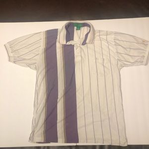 Vintage Grand Slam Striped Polo